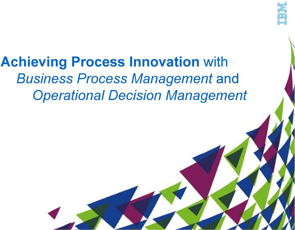 Process Management and