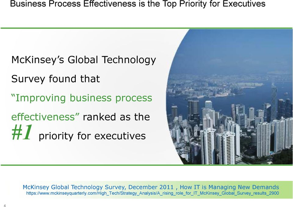executives McKinsey Global Technology Survey, December 2011, How IT is Managing New Demands