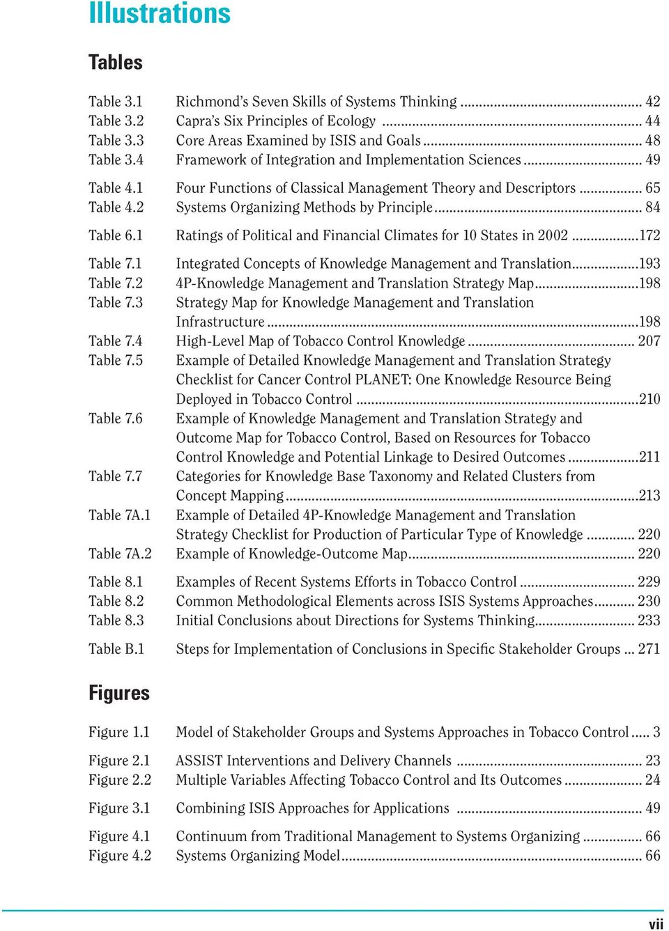 .. 84 Table 6.1 Ratings of Political and Financial Climates for 10 States in 2002...172 Table 7.1 Integrated Concepts of Knowledge Management and Translation...193 Table 7.