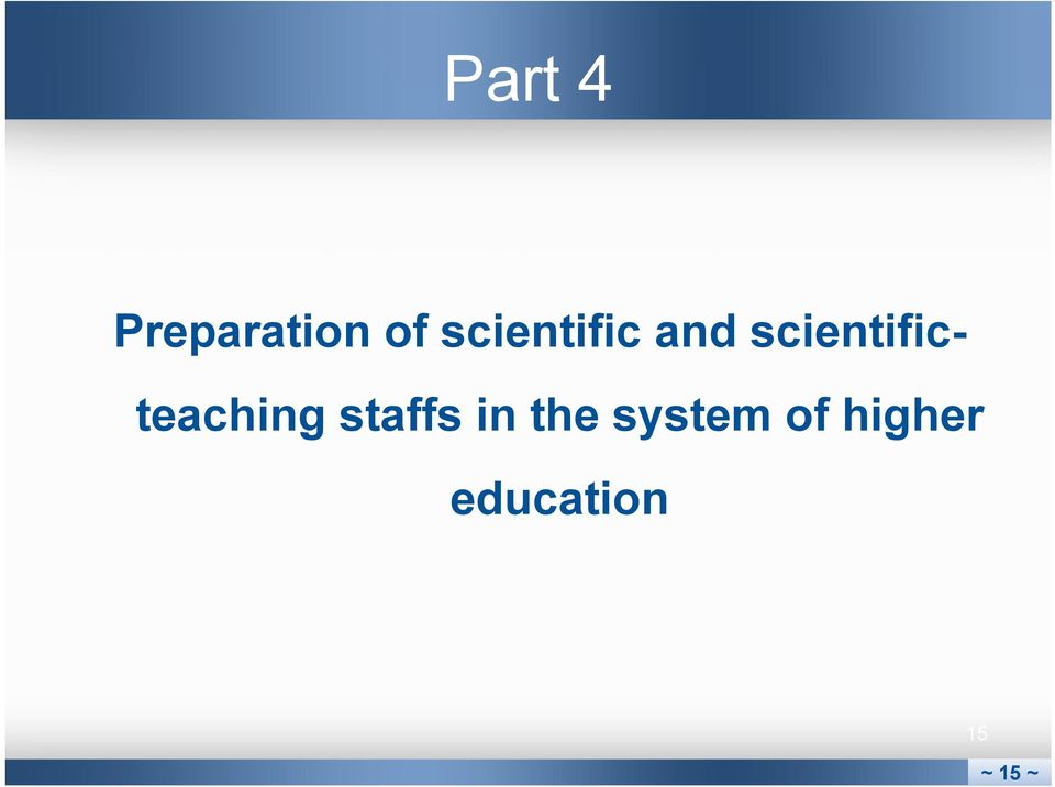 scientificteaching staffs