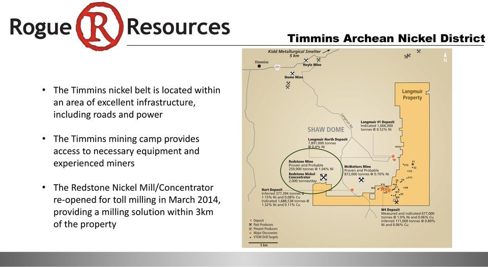 access to necessary equipment and experienced miners The Redstone Nickel