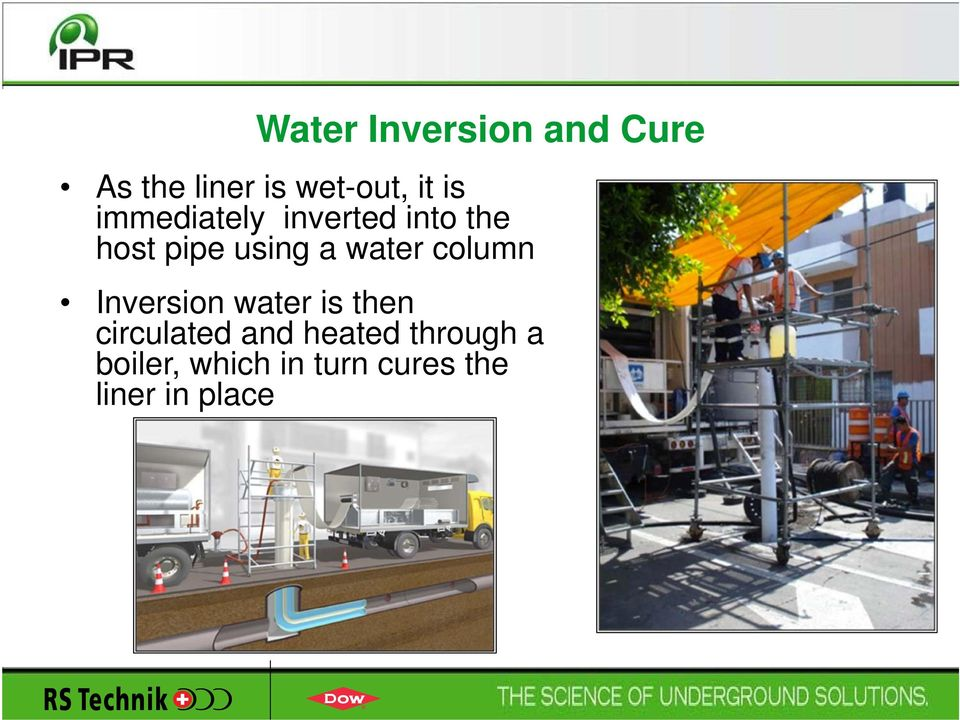 water column Inversion water is then circulated and