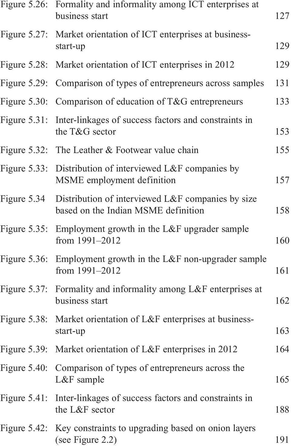 31: Inter-linkages of success factors and constraints in the T&G sector 153 Figure 5.32: The Leather & Footwear value chain 155 Figure 5.
