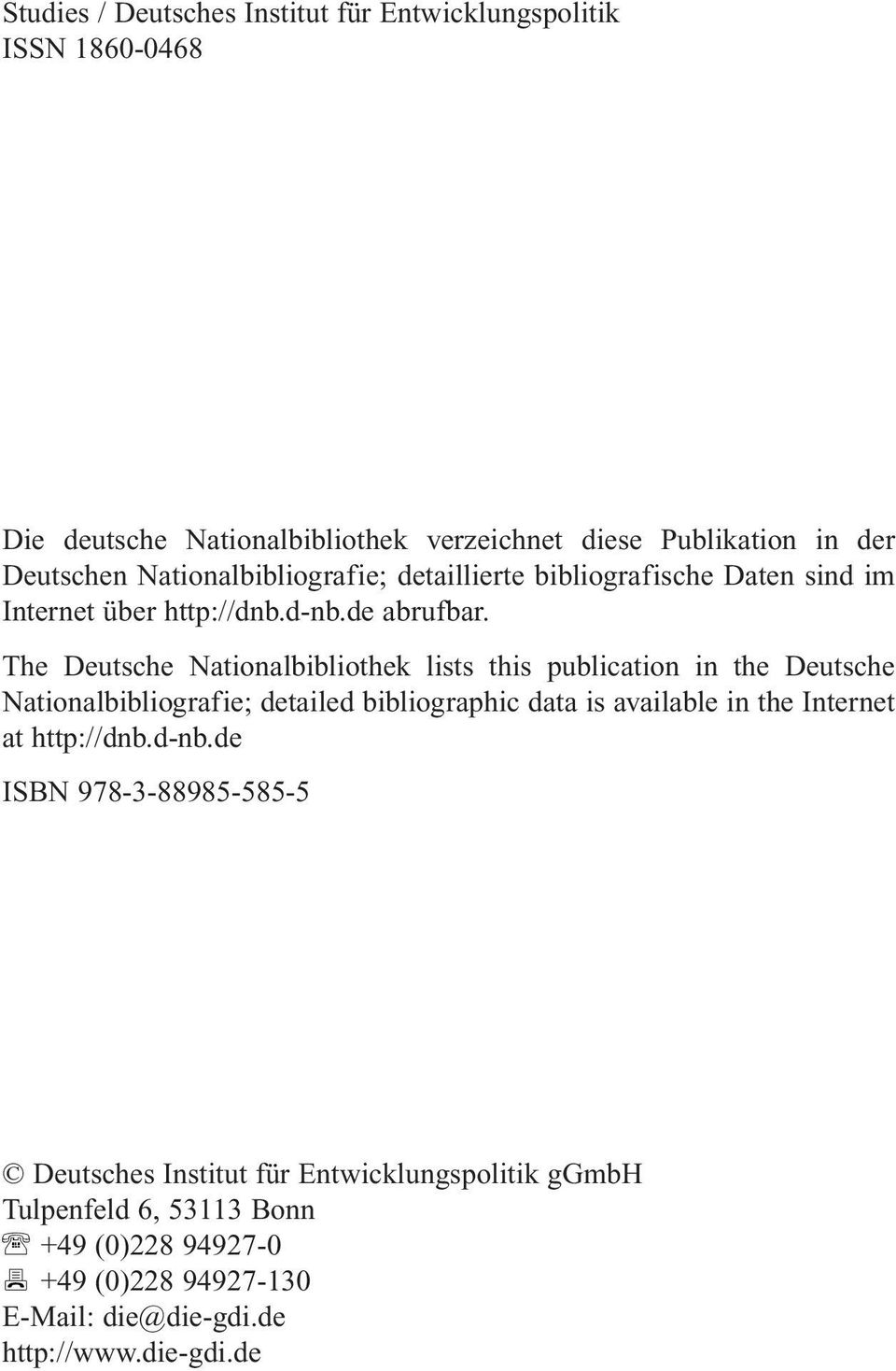 The Deutsche Nationalbibliothek lists this publication in the Deutsche Nationalbibliografie; detailed bibliographic data is available in the Internet