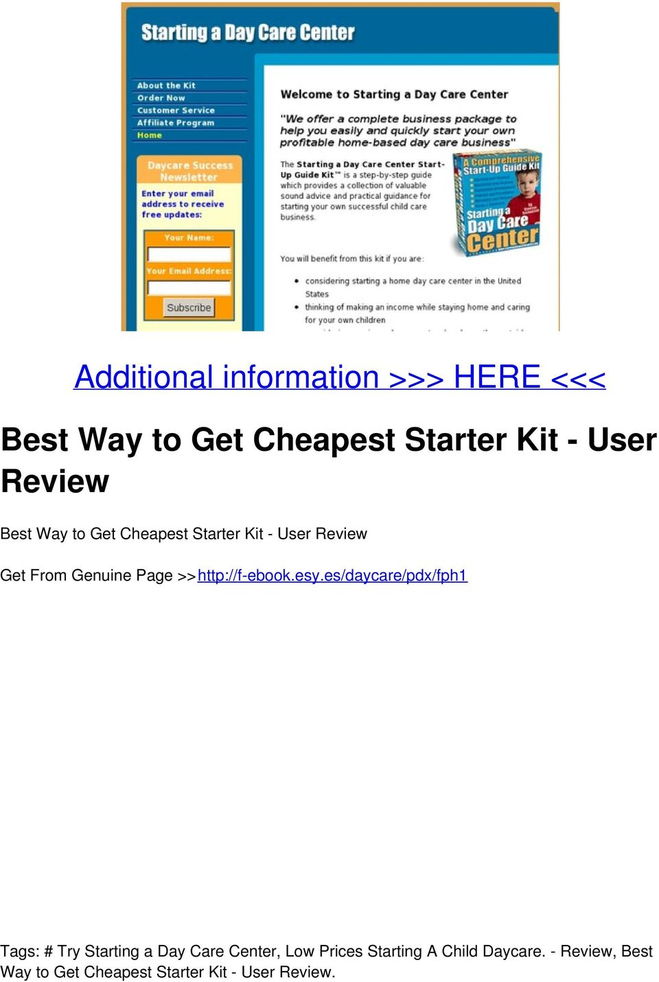 Get Cheapest Starter Kit - User Review Get From