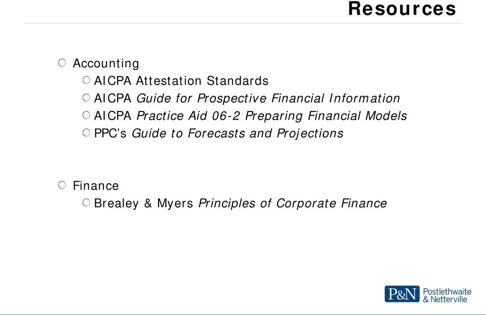 Preparing Financial Models PPC s Guide to Forecasts and