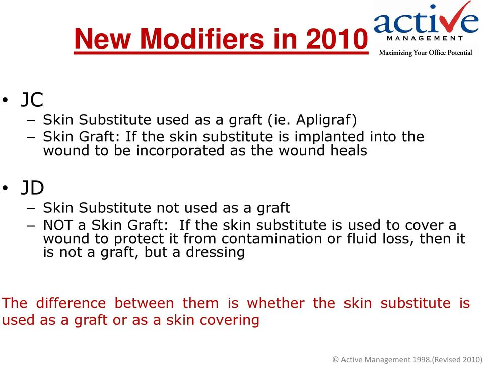 Skin Substitute not used as a graft NOT a Skin Graft: If the skin substitute is used to cover a wound to protect it
