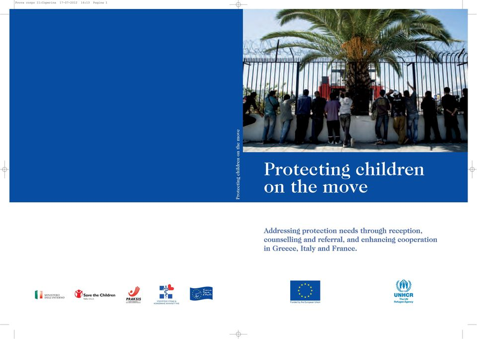 Protecting children on the move ΥΠΟΥΡΓΕΙΟ