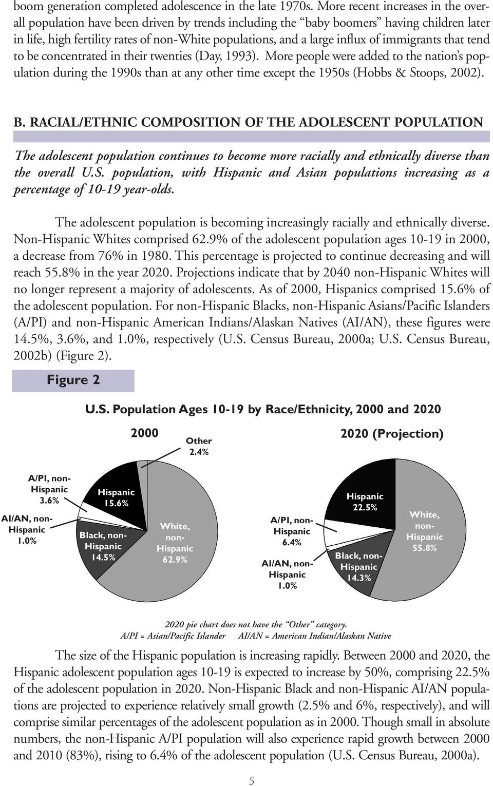 of immigrants that tend to be concentrated in their twenties (Day, 1993).