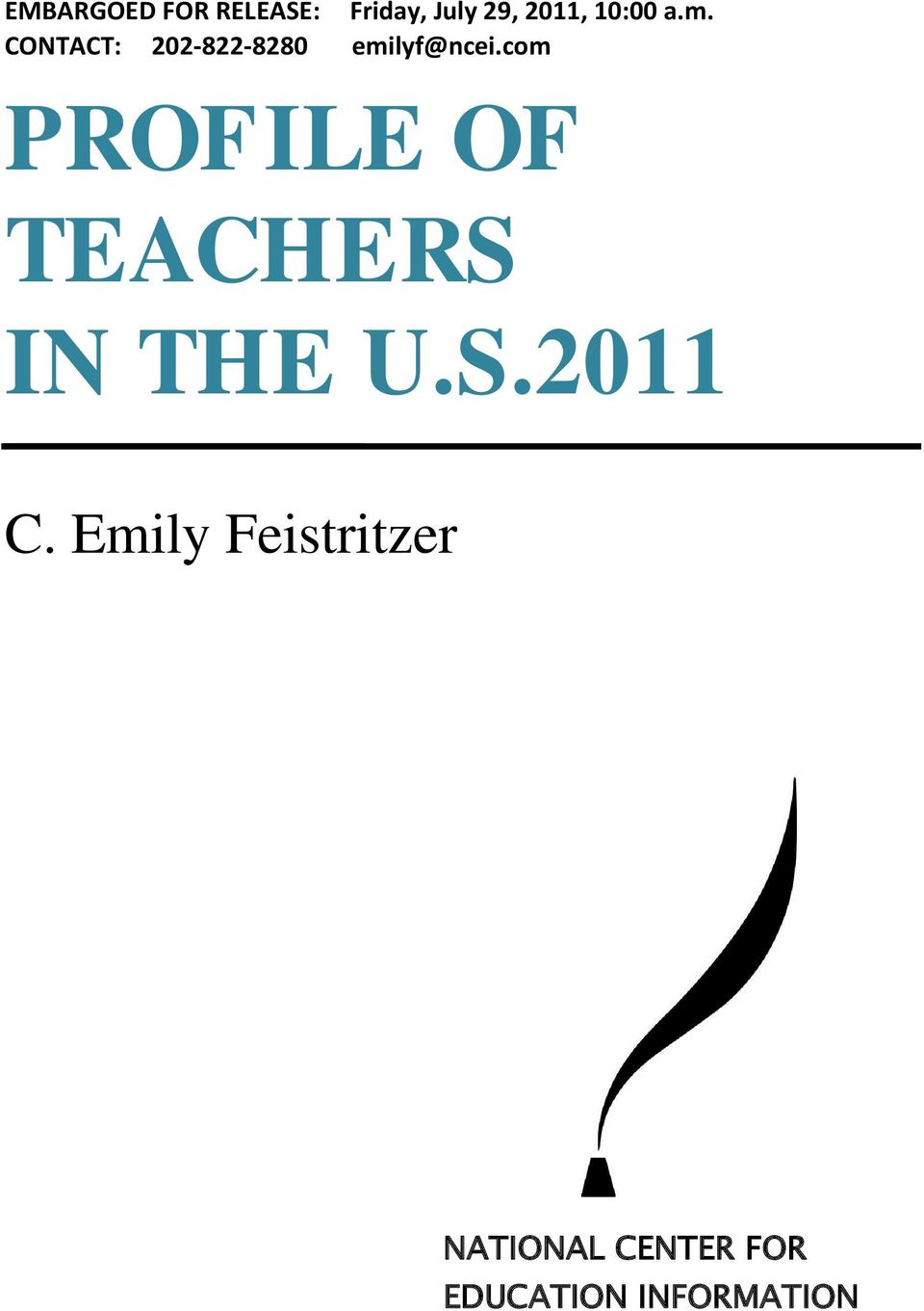com PROFILE OF TEACHERS IN THE U.S.20 C.