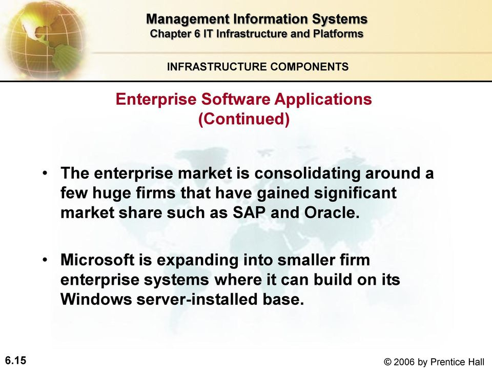 share such as SAP and Oracle.