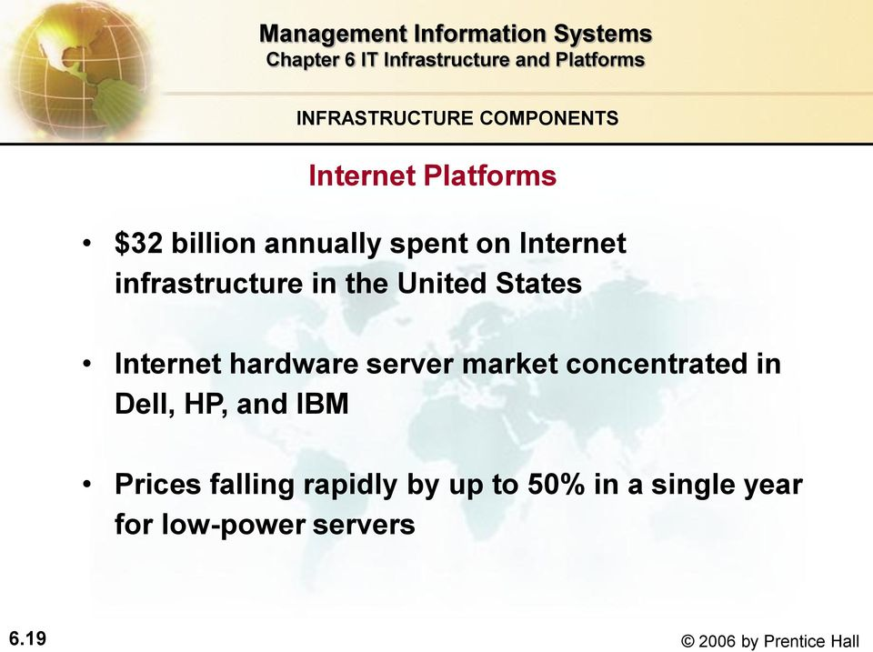 server market concentrated in Dell, HP, and IBM Prices falling rapidly