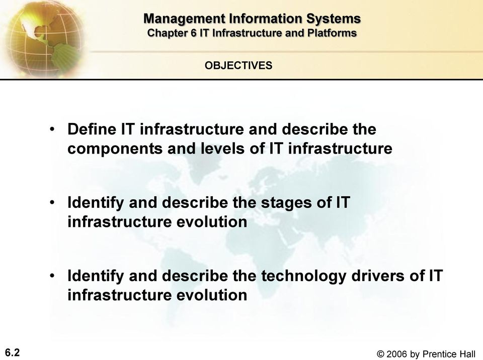of IT infrastructure evolution Identify and describe the