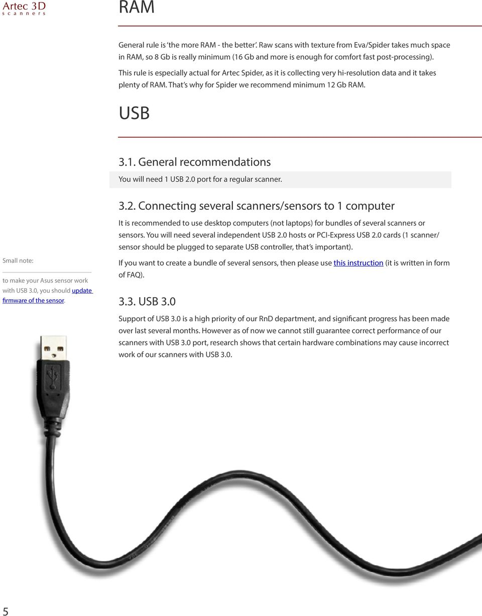 Gb RAM. USB 3.1. General recommendations You will need 1 USB 2.
