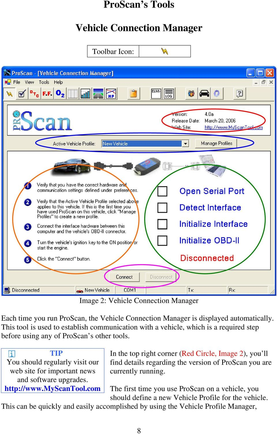 TIP You should regularly visit our web site for important news and software upgrades. http://www.myscantool.