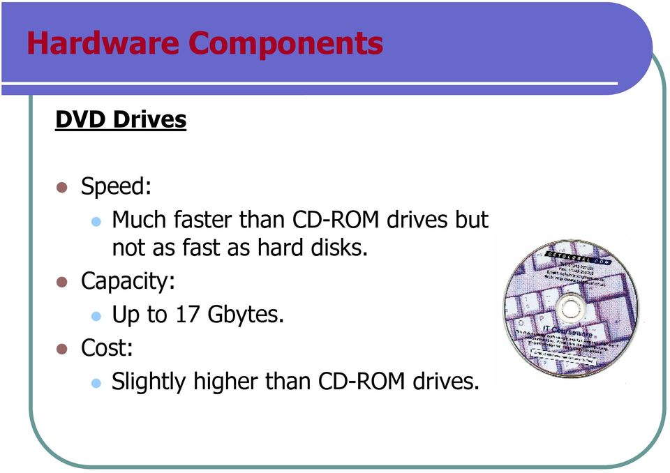 fast as hard disks.