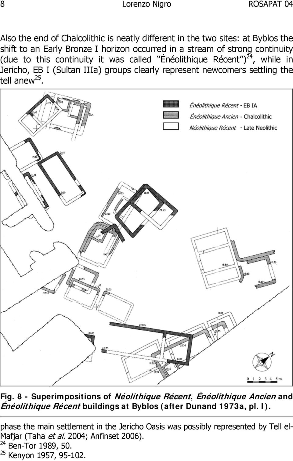 settling the tell anew 25. Fig. 8 - Superimpositions of Néolithique Récent, Énéolithique Ancien and Énéolithique Récent buildings at Byblos (after Dunand 1973a, pl.