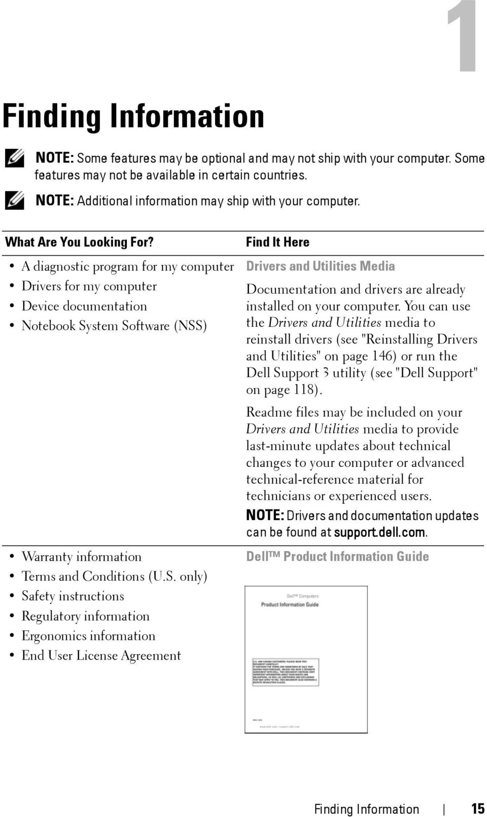 A diagnostic program for my computer Drivers for my computer Device documentation Notebook Sy
