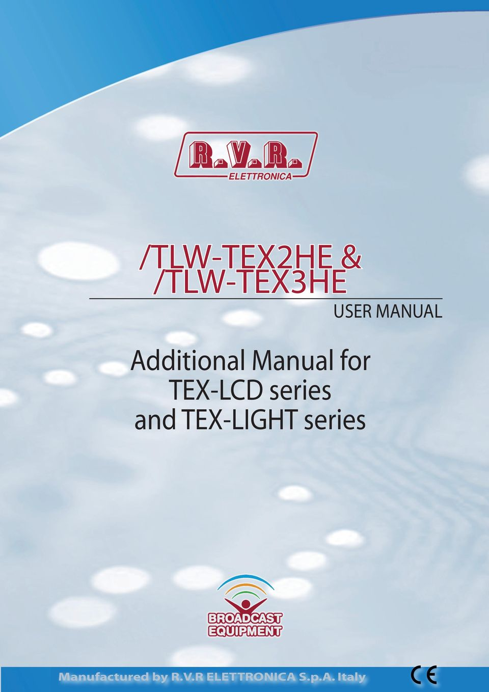 TEX-LCD series and TEX-LIGHT series