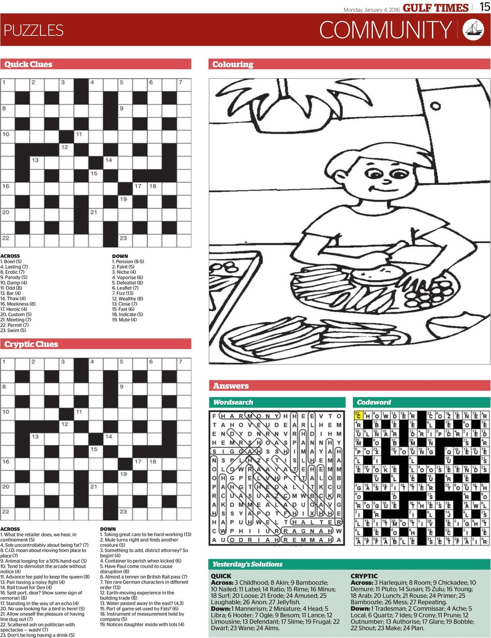 13 Puzzles P 14 15 Cover Story Community About 500 Indonesians