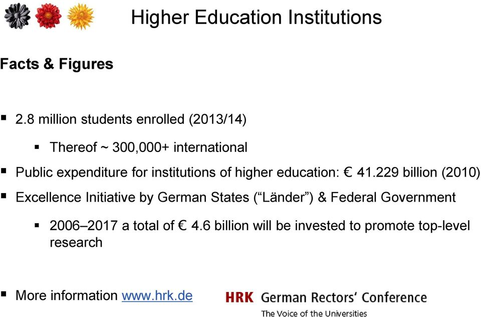 institutions of higher education: 41.