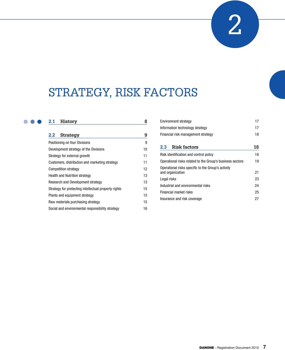 and Nutrition strategy 13 Research and Development strategy 13 Strategy for protecting intellectual property rights 15 Plants and equipment strategy 15 Raw materials purchasing strategy 15 Social and