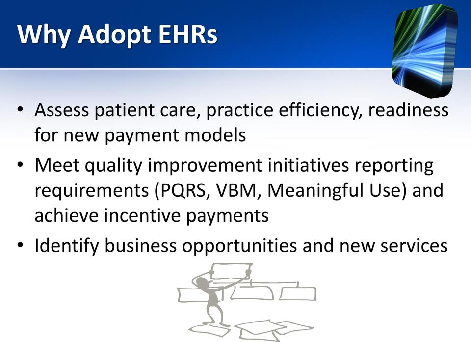 initiatives reporting requirements (PQRS, VBM, Meaningful Use)