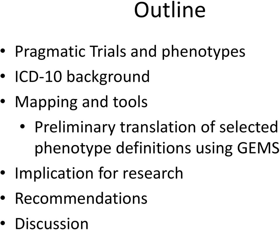 translation of selected phenotype definitions