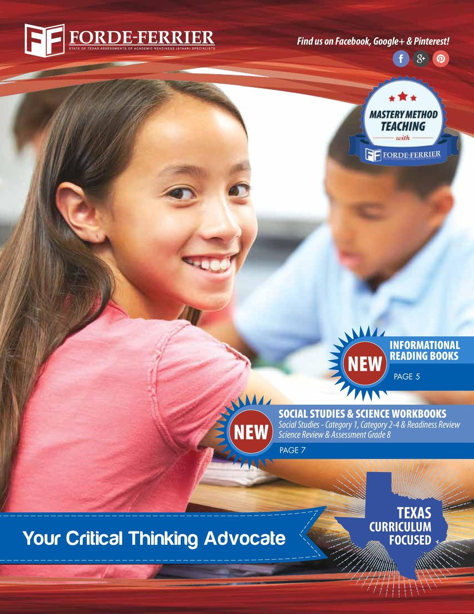 NEW INFORMATIONAL READING S PAGE 5 NEW SOCIAL STUDIES & SCIENCE WORKS Social Studies