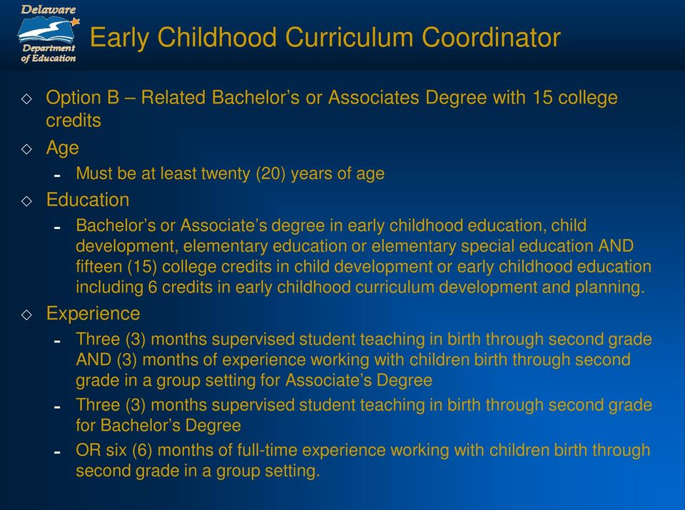 early childhood curriculum development and planning.