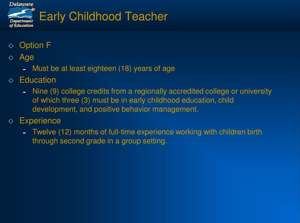 in early childhood education, child development, and positive behavior management.