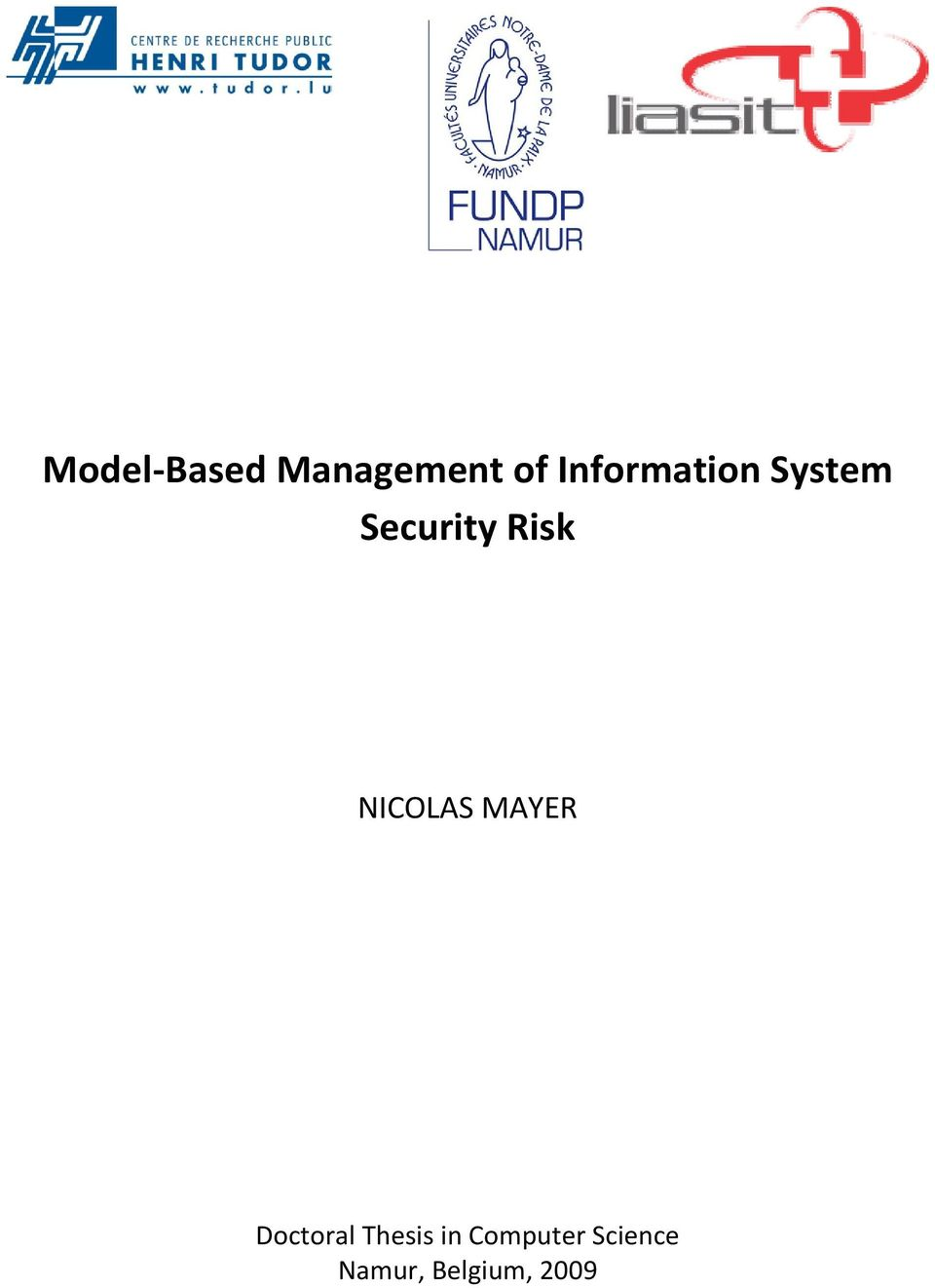 NICOLAS MAYER Doctoral Thesis in