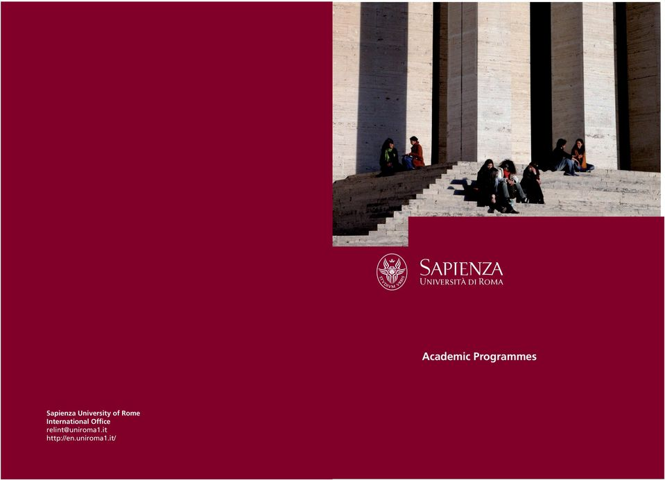 Graphic e Multimedia Design Academic Programmes Sapienza
