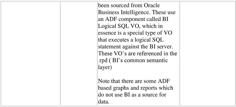 VO that executes a logical SQL statement against the BI server.