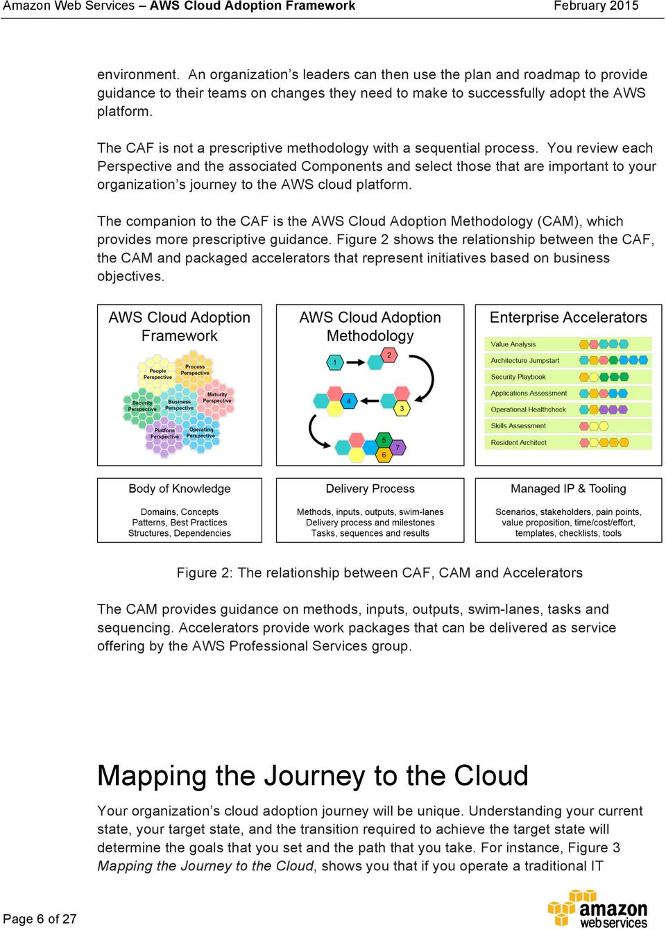 You review each Perspective and the associated Components and select those that are important to your organization s journey to the AWS cloud platform.