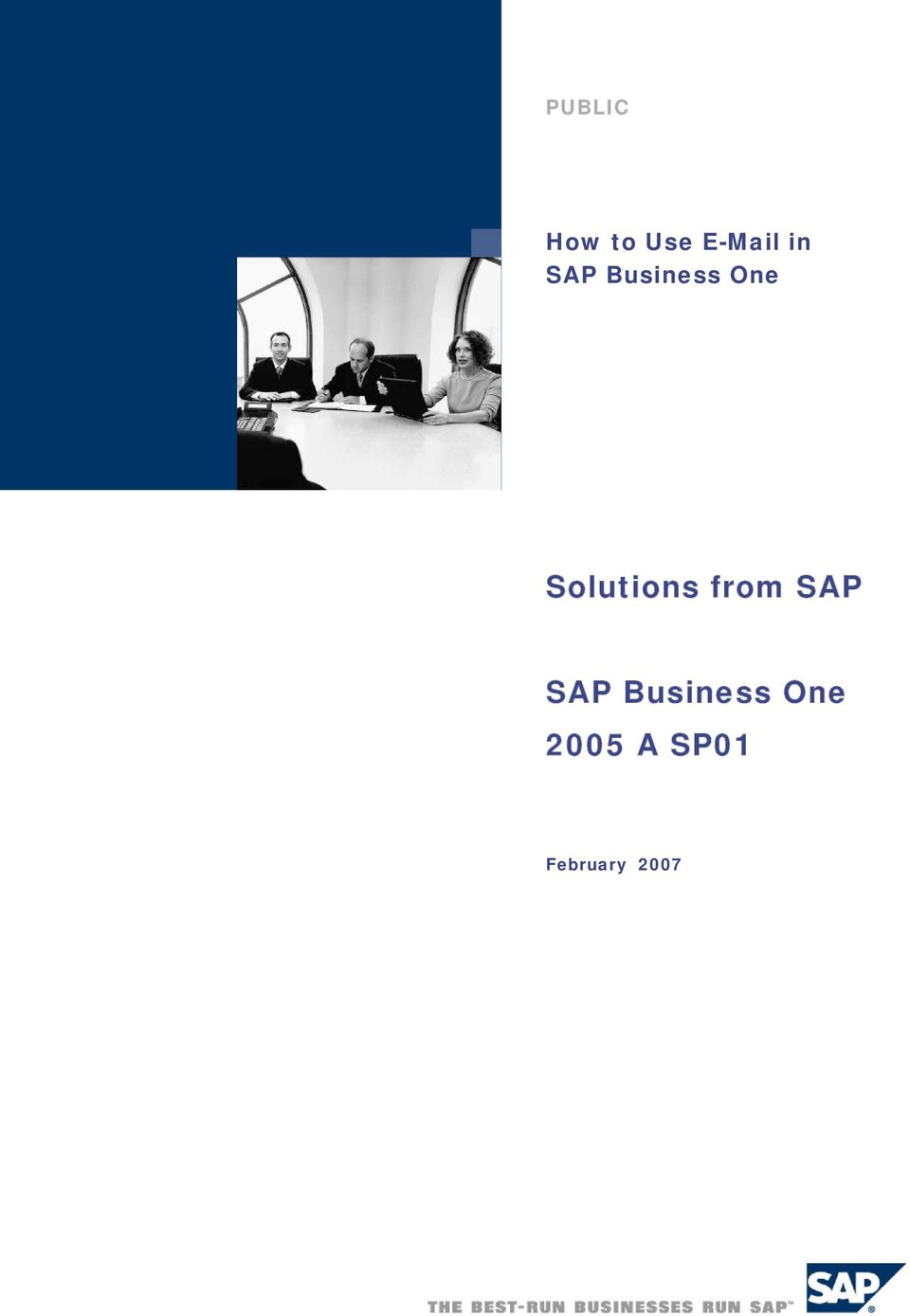 Solutions from SAP SAP