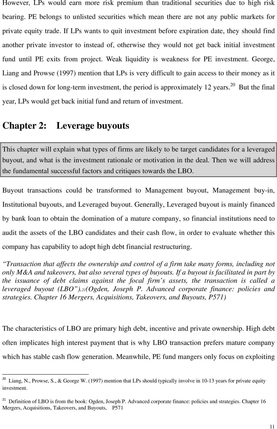 Leveraged Buyout  Master Thesis - PDF