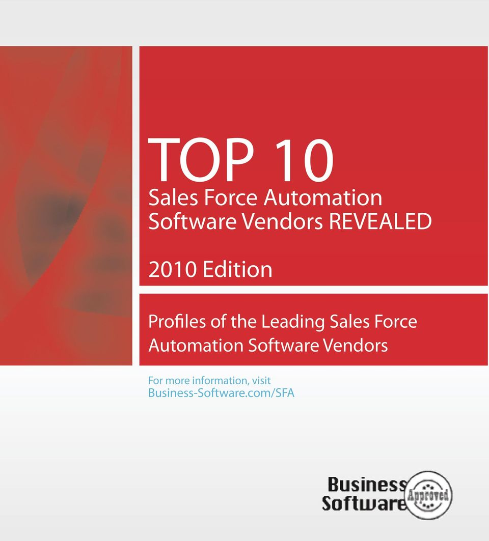 Sales Force Automation Software Vendors For