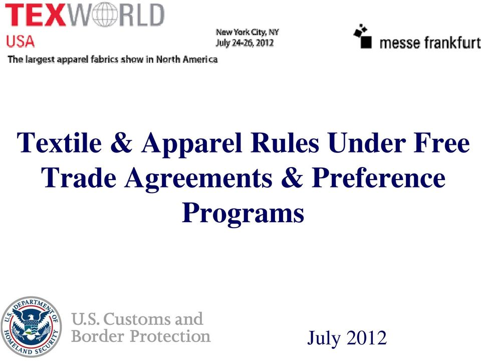 Trade Agreements &