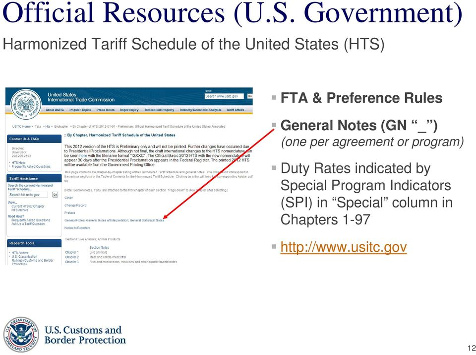 & Preference Rules General Notes (GN _ ) (one per agreement or