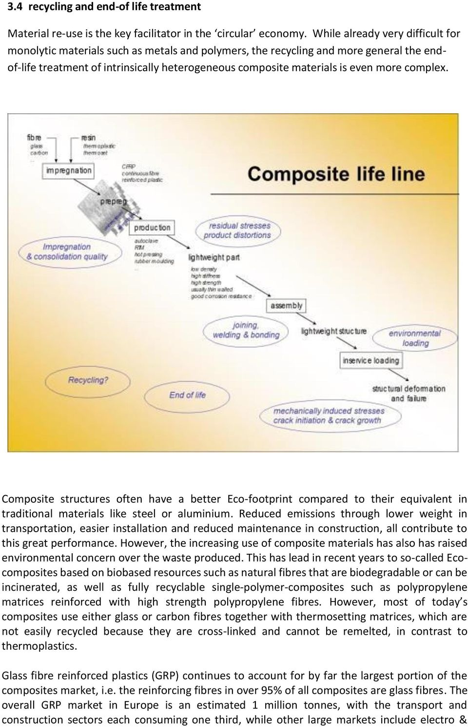 more complex. Composite structures often have a better Eco-footprint compared to their equivalent in traditional materials like steel or aluminium.