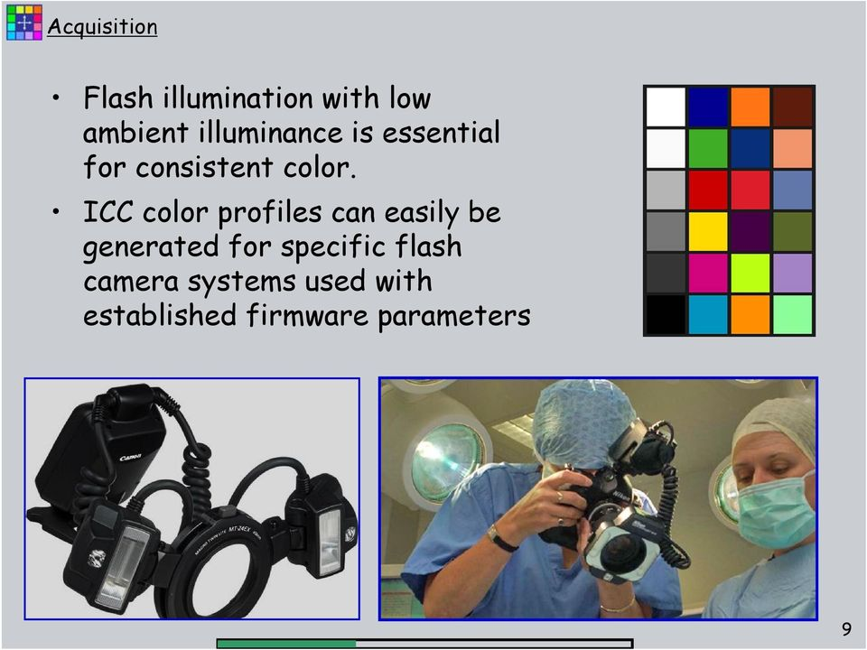 ICC color profiles can easily be generated for