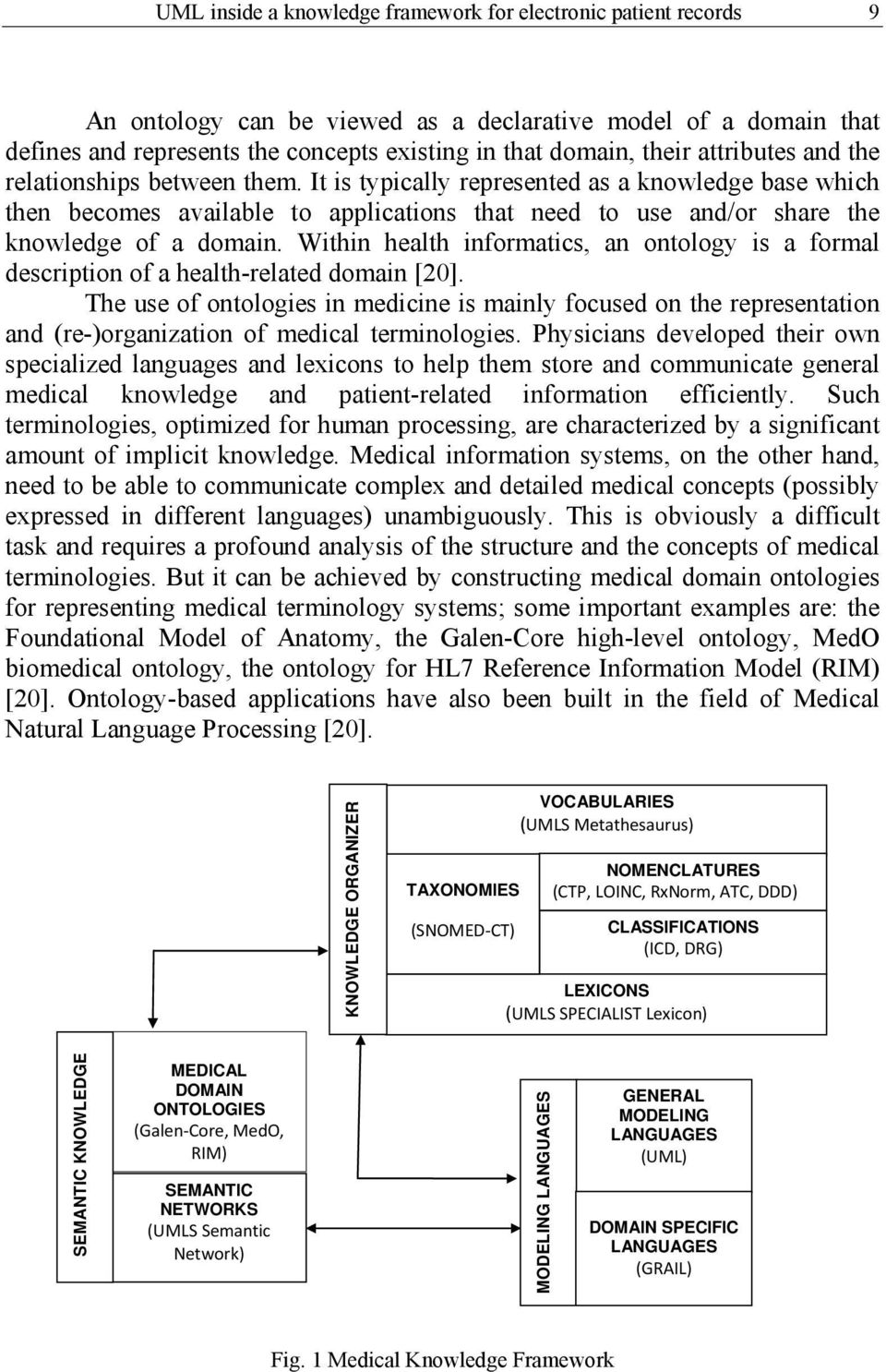 Within health informatics, an ontology is a formal description of a health-related domain [20].
