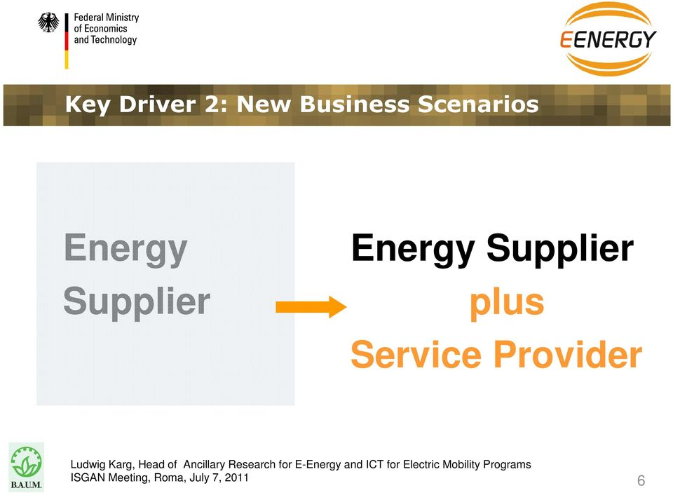 Energy Supplier Energy