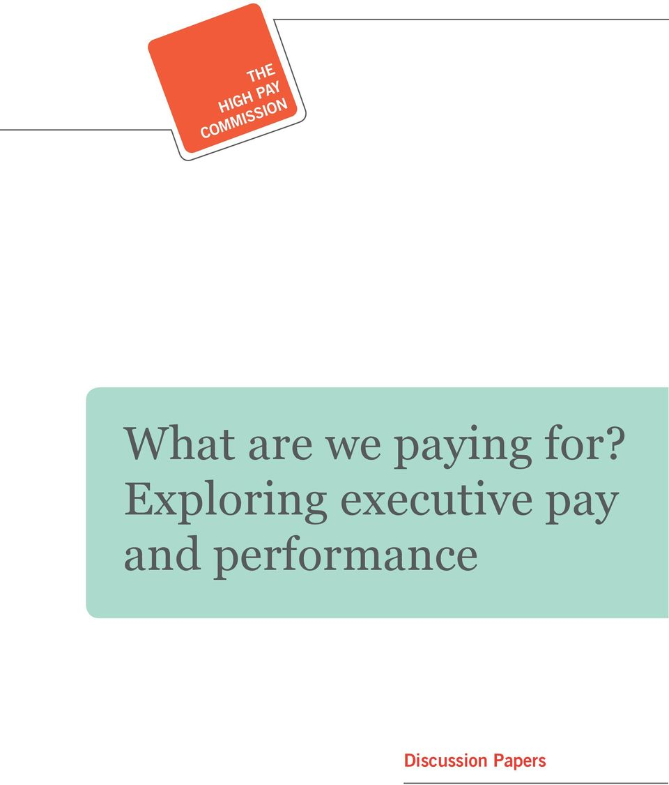 Exploring executive pay