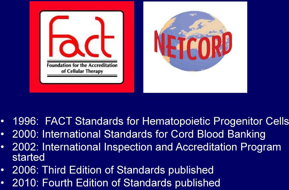 International Inspection and Accreditation Program started 2006: