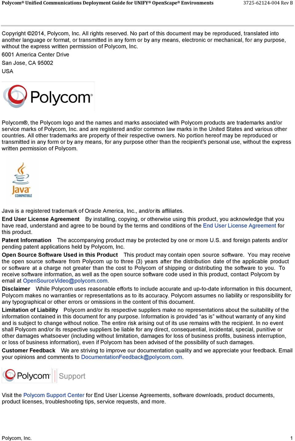 written permission of Polycom, Inc.