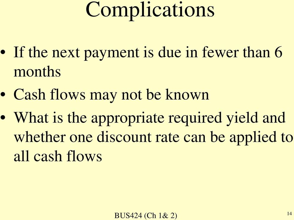 What is the appropriate required yield and