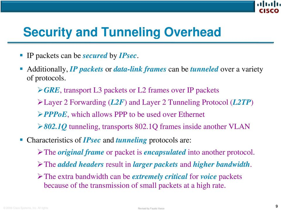 1Q tunneling, transports 802.
