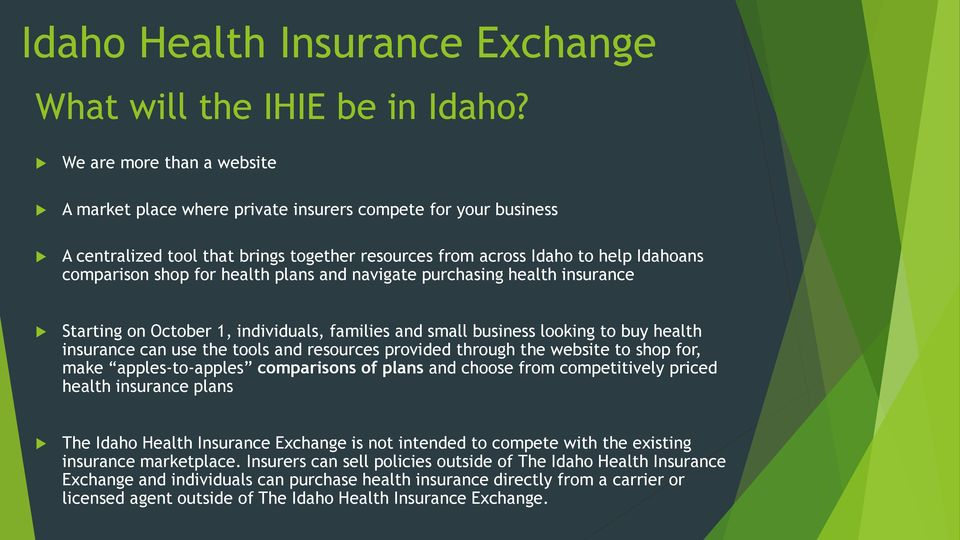 health plans and navigate purchasing health insurance Starting on October 1, individuals, families and small business looking to buy health insurance can use the tools and resources provided through